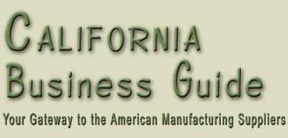 California business guide is a list of certified Californian and American manufacturing, suppliers, wholesale vendors from Los Angeles, San Francisco... manufacturing and distribution companies with international background to support worldwide business... California automation, apparel, lingerie, shoes, furniture, beauty care, health care, chemical, automotive, electronics, industrial equipment, communications, tiles, costruction, wine, vacations, real estate... in the United States of America