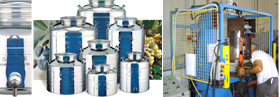 La Nuova Sansone, the Italian stainless steel containers manufacturing co, wine storage containers, food storage containers and chemical storage containers to support the USA, Canada, Japan and worldwide storage industries...