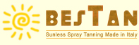 Bestan sunless spray tanning made in Italy to solarium business and distributors